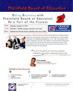 Pfld. Bd. of Ed flier