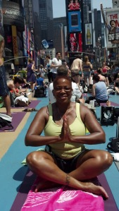 Yoga on Times Square